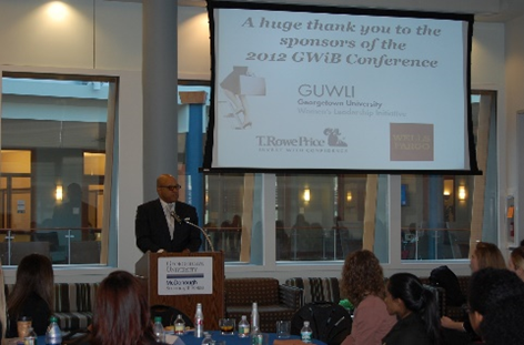 Dean David Thomas welcoming attendees to the 2012 conference