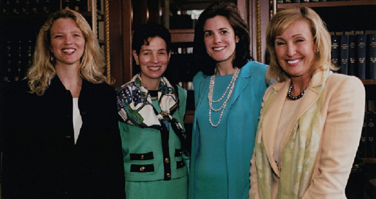 Barbara Landis, PBS Chief Financial Officer; Lisa Caputo, Citigroup Executive Vice President of Global Marketing and Corporate Affairs; and Lana Marks, CEO and designer
