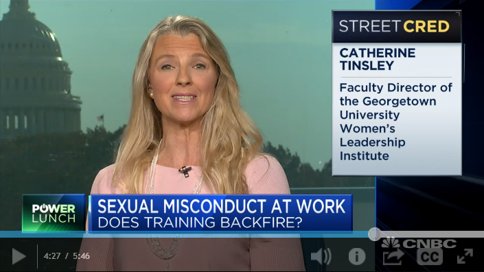 Catherine Tinsley on sexual  harassment